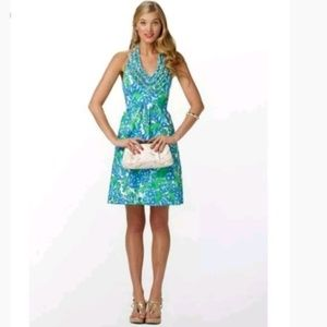Lilly pulitzer Lillian Ruffled Halter Dress Size 8
